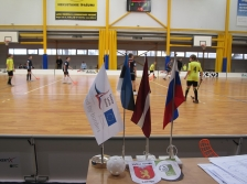 BE GOOD AT SPORT: young sportsmen from Latvia, Estonia and Russia met on the floorball ground for competition and friendship