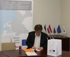 Grant contract for 271 140,53 euro of the Programme co-financing countersigned by the JMA of the Programme and Limbazi Municipality (Latvia).